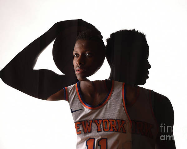 Nba Pro Basketball Poster featuring the photograph Frank Ntilikina by Brian Babineau