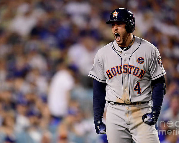 Game Two Poster featuring the photograph George Springer by Harry How