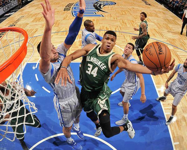 Nba Pro Basketball Poster featuring the photograph Giannis Antetokounmpo by Fernando Medina