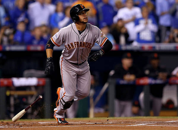 Game Two Poster featuring the photograph Gregor Blanco by Elsa