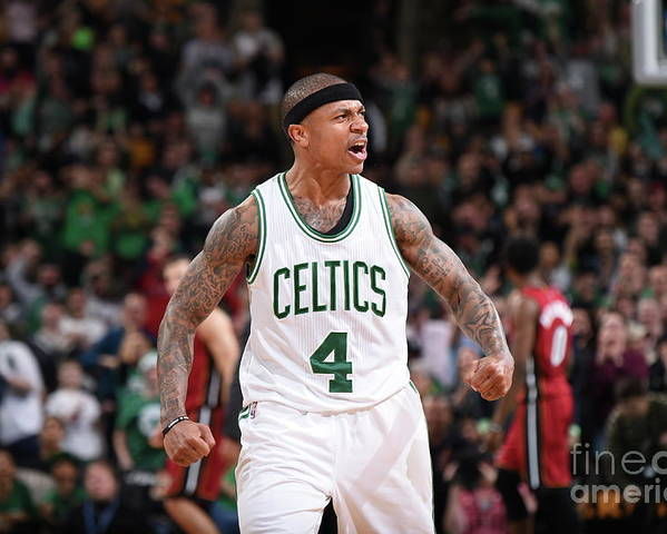 Nba Pro Basketball Poster featuring the photograph Isaiah Thomas by Brian Babineau