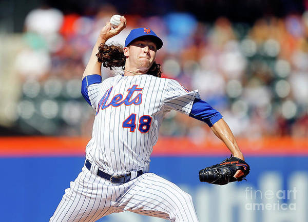 Jacob Degrom Poster featuring the photograph Jacob Degrom by Jim Mcisaac