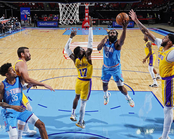 Nba Pro Basketball Poster featuring the photograph James Harden by Cato Cataldo