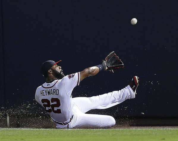 Atlanta Poster featuring the photograph Jason Heyward by Mike Zarrilli