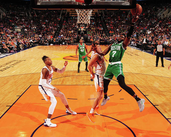 Nba Pro Basketball Poster featuring the photograph Jaylen Brown by Barry Gossage