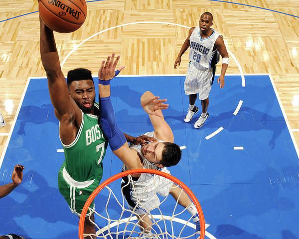 Nba Pro Basketball Poster featuring the photograph Jaylen Brown by Fernando Medina