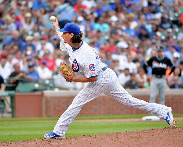 Second Inning Poster featuring the photograph Jeff Samardzija by Brian Kersey
