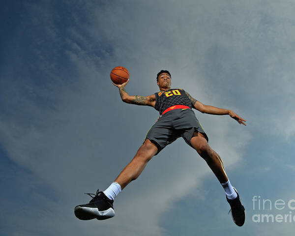 Nba Pro Basketball Poster featuring the photograph John Collins by Jesse D. Garrabrant