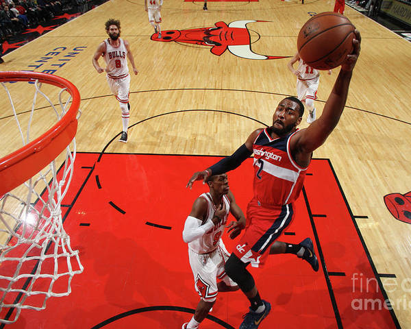 Nba Pro Basketball Poster featuring the photograph John Wall by Gary Dineen