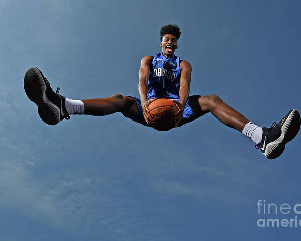 Nba Pro Basketball Poster featuring the photograph Jonathan Isaac by Jesse D. Garrabrant