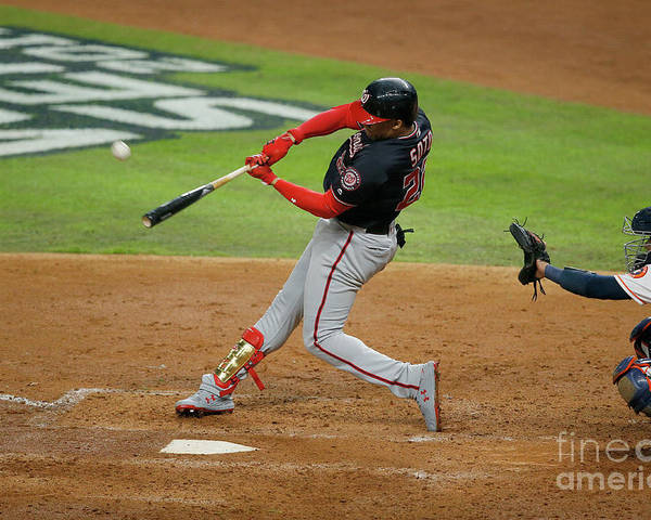 American League Baseball Poster featuring the photograph Juan Soto by Bob Levey