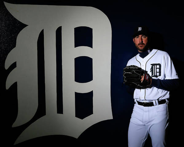 Media Day Poster featuring the photograph Justin Verlander by Kevin C. Cox