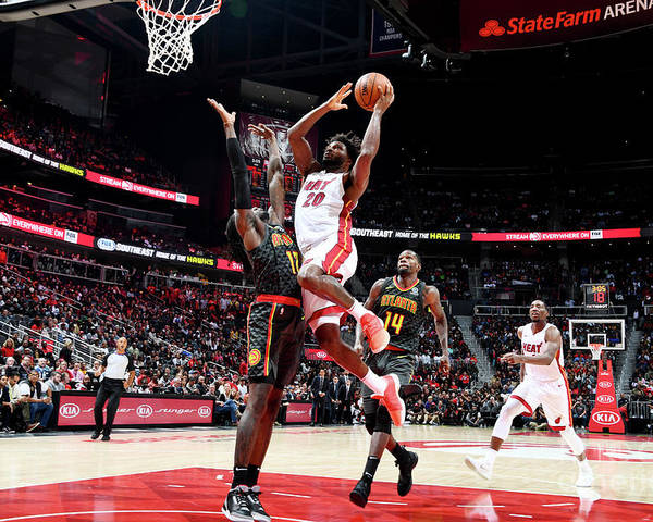 Atlanta Poster featuring the photograph Justise Winslow by Scott Cunningham