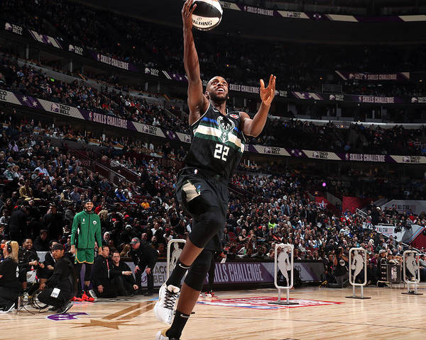 Nba Pro Basketball Poster featuring the photograph Khris Middleton by Nathaniel S. Butler