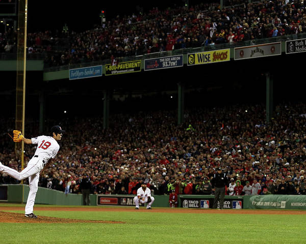 Playoffs Poster featuring the photograph Koji Uehara by Rob Carr