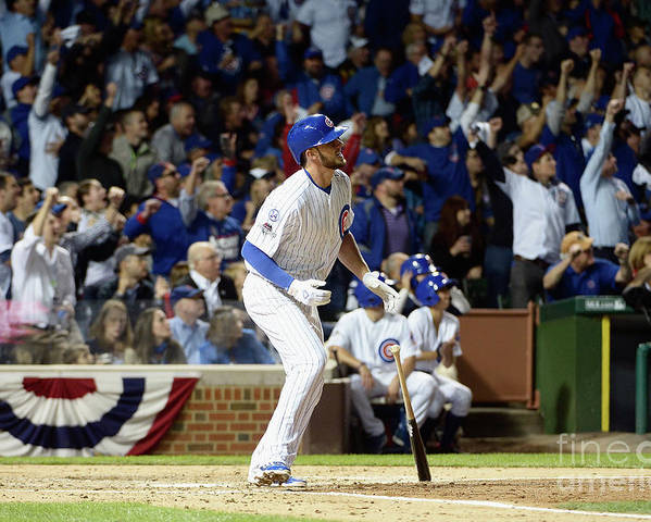 People Poster featuring the photograph Kris Bryant by David Banks