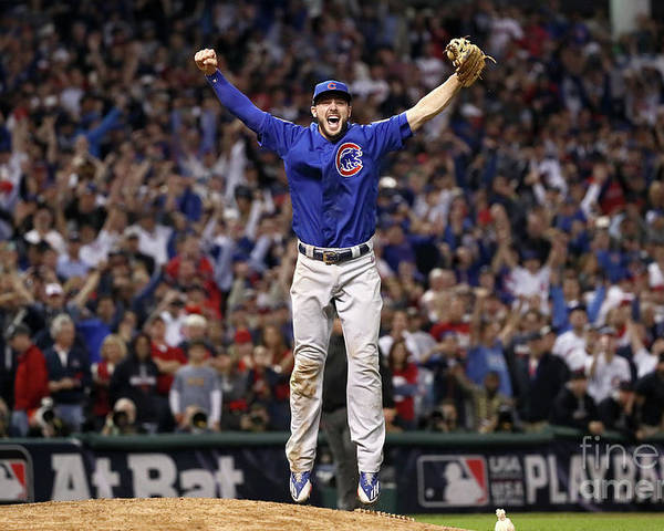 People Poster featuring the photograph Kris Bryant by Ezra Shaw