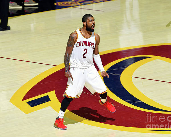 Playoffs Poster featuring the photograph Kyrie Irving by Jesse D. Garrabrant