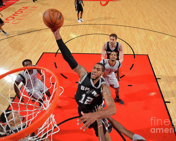Playoffs Poster featuring the photograph Lamarcus Aldridge by Jesse D. Garrabrant