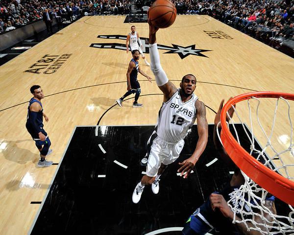 Nba Pro Basketball Poster featuring the photograph Lamarcus Aldridge by Mark Sobhani