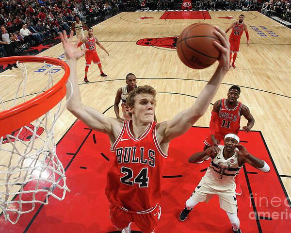 Chicago Bulls Poster featuring the photograph Lauri Markkanen by Gary Dineen