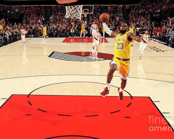 Nba Pro Basketball Poster featuring the photograph Lebron James by Cameron Browne