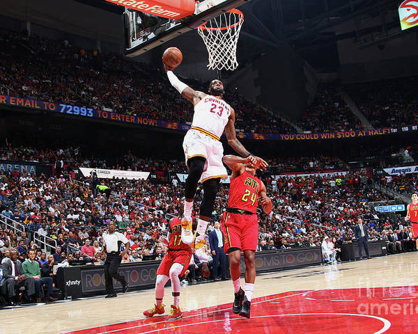 Atlanta Poster featuring the photograph Lebron James by Kevin Liles