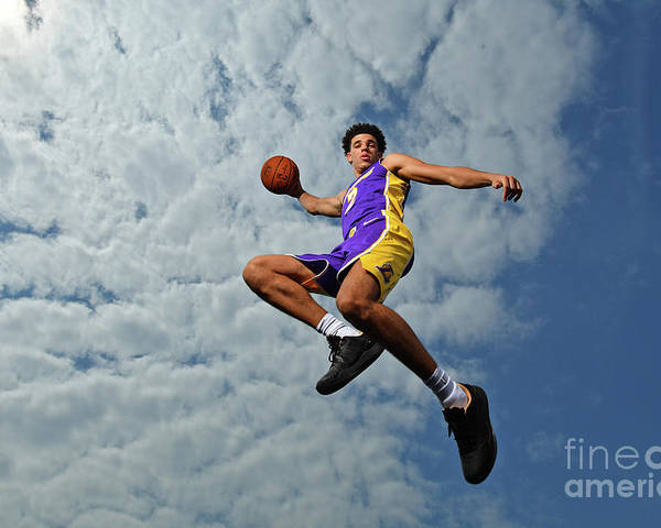 Nba Pro Basketball Poster featuring the photograph Lonzo Ball by Jesse D. Garrabrant