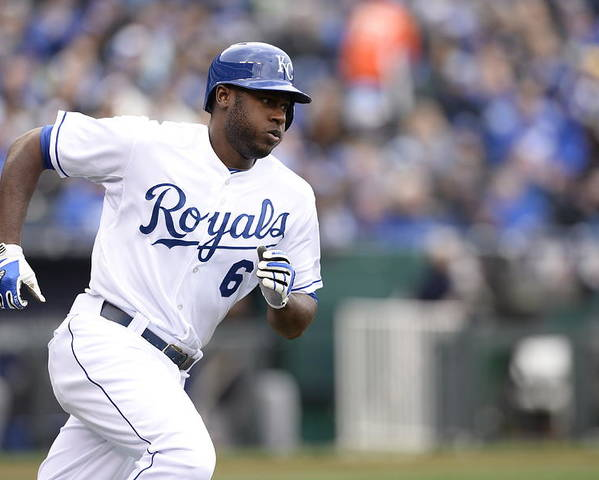 American League Baseball Poster featuring the photograph Lorenzo Cain by John Williamson