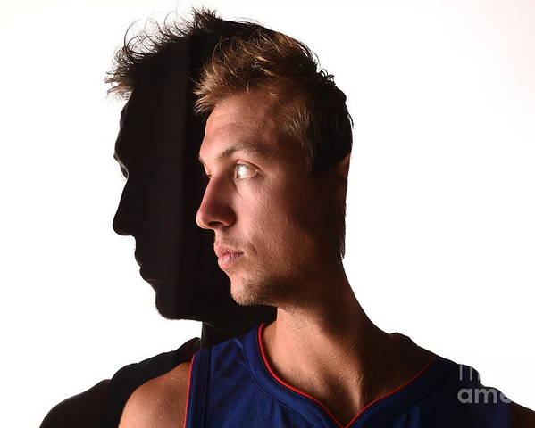 Looking Over Shoulder Poster featuring the photograph Luke Kennard by Brian Babineau