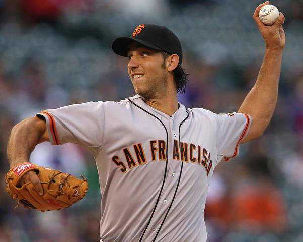 Baseball Pitcher Poster featuring the photograph Madison Bumgarner by Doug Pensinger