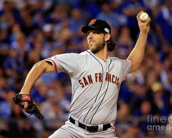People Poster featuring the photograph Madison Bumgarner by Rob Carr