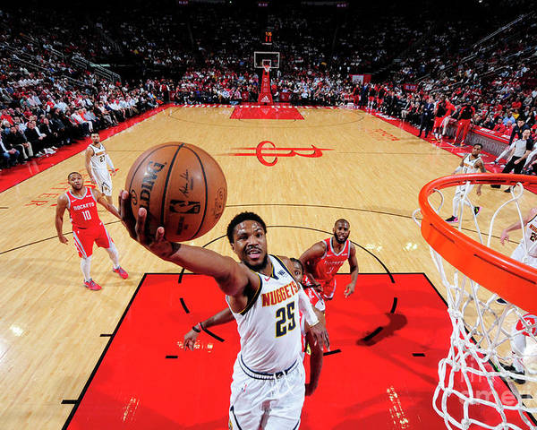 Nba Pro Basketball Poster featuring the photograph Malik Beasley by Bill Baptist
