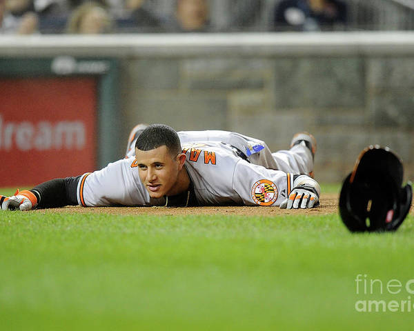 People Poster featuring the photograph Manny Machado by Greg Fiume