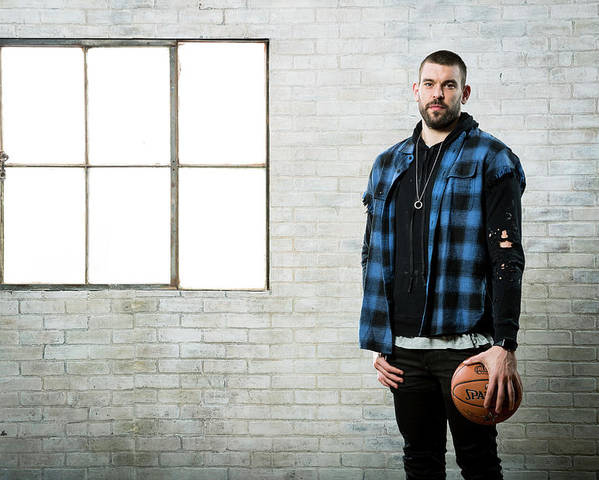 Nba Pro Basketball Poster featuring the photograph Marc Gasol by Nathaniel S. Butler