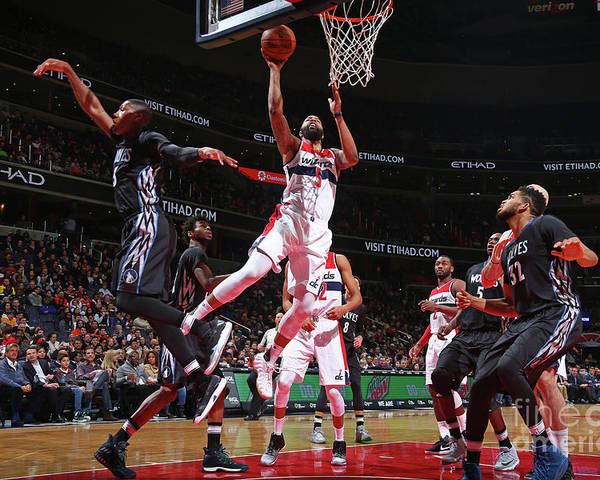 Nba Pro Basketball Poster featuring the photograph Markieff Morris by Ned Dishman