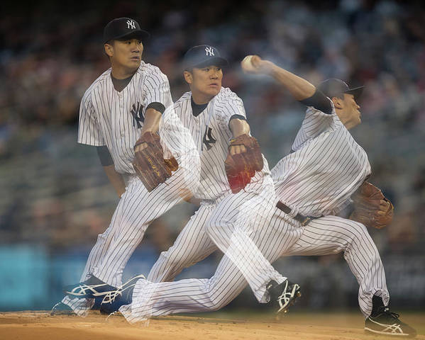 American League Baseball Poster featuring the photograph Masahiro Tanaka by Rob Tringali