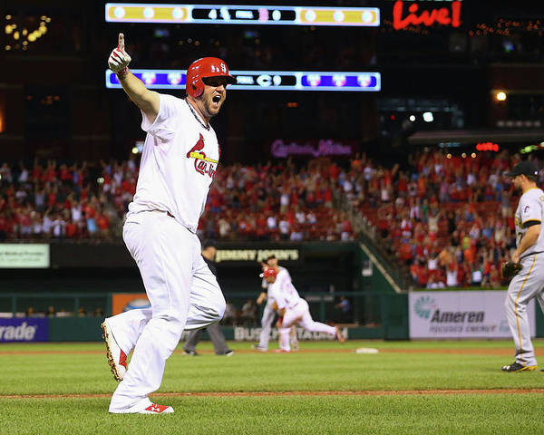 St. Louis Cardinals Poster featuring the photograph Matt Adams by Dilip Vishwanat