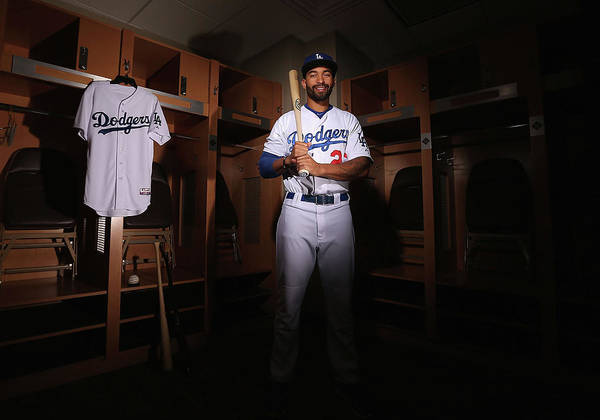 Media Day Poster featuring the photograph Matt Kemp by Christian Petersen