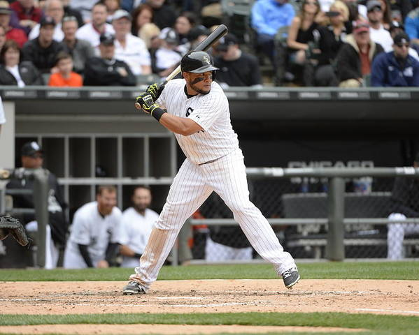 American League Baseball Poster featuring the photograph Melky Cabrera by Ron Vesely