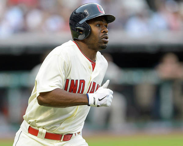 Michael Bourn Poster featuring the photograph Michael Bourn by Jason Miller