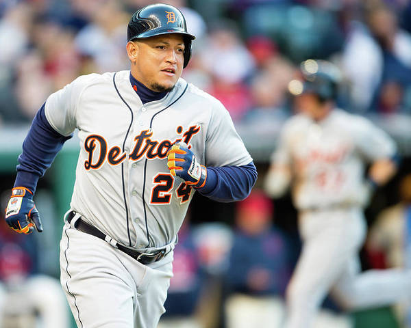 American League Baseball Poster featuring the photograph Miguel Cabrera by Jason Miller