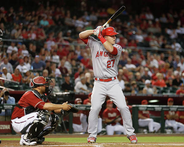 People Poster featuring the photograph Mike Trout by Christian Petersen