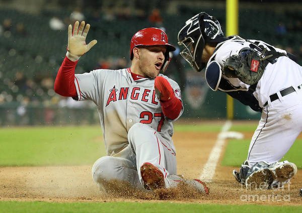 People Poster featuring the photograph Mike Trout by Gregory Shamus