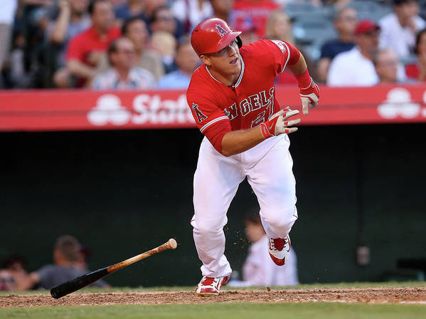 People Poster featuring the photograph Mike Trout by Stephen Dunn