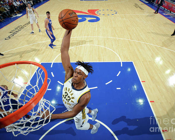 Nba Pro Basketball Poster featuring the photograph Myles Turner by Jesse D. Garrabrant