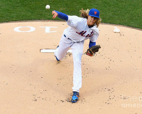 People Poster featuring the photograph Noah Syndergaard by Mike Stobe
