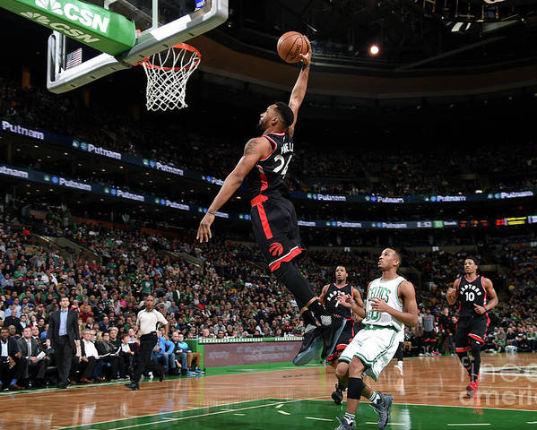 Nba Pro Basketball Poster featuring the photograph Norman Powell by Brian Babineau