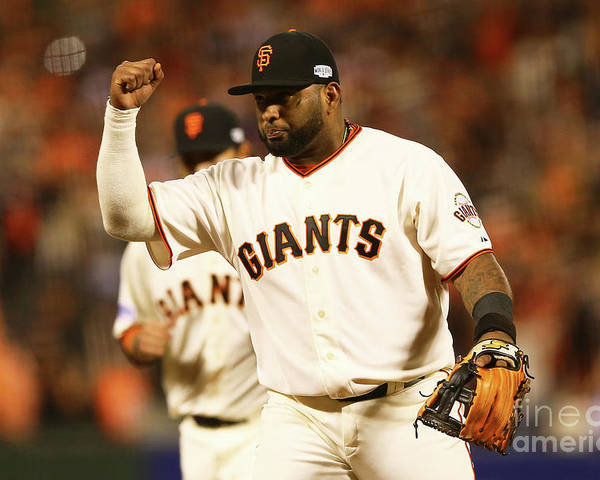 San Francisco Poster featuring the photograph Pablo Sandoval by Elsa
