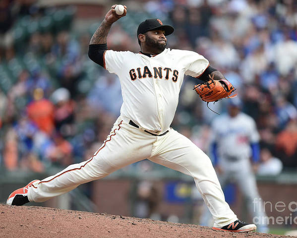 San Francisco Poster featuring the photograph Pablo Sandoval by Thearon W. Henderson